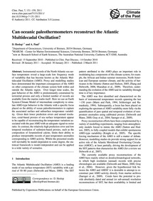 Can Oceanic Paleothermometers Reconstruc... by Heslop, D.