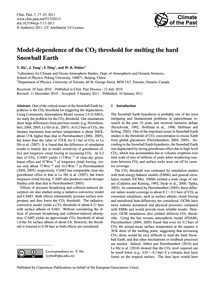 Model-dependence of the Co2 Threshold fo... by Hu, Y.
