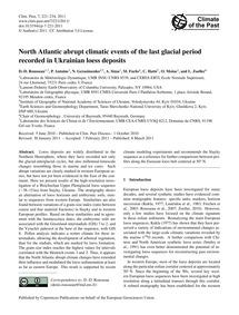 North Atlantic Abrupt Climatic Events of... by Rousseau, D.-d.
