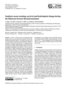 Southern Ocean Warming, Sea Level and Hy... by Sluijs, A.