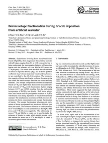 Boron Isotope Fractionation During Bruci... by Xiao, J.