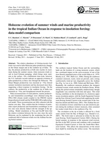 Holocene Evolution of Summer Winds and M... by Bassinot, F. C.