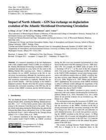 Impact of North Atlantic – Gin Sea Excha... by Cheng, J.