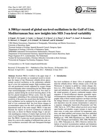 A 500 Kyr Record of Global Sea-level Osc... by Frigola, J.