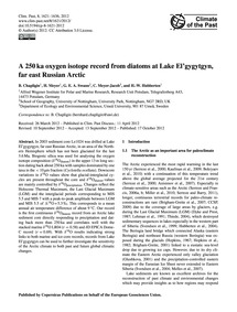 A 250 Ka Oxygen Isotope Record from Diat... by Chapligin, B.