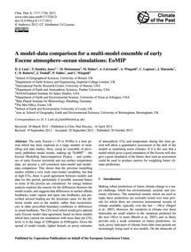 A Model–data Comparison for a Multi-mode... by Lunt, D. J.