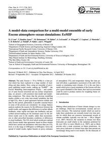 A Model–data Comparison for a Multi-mode... by Lunt, D. J.