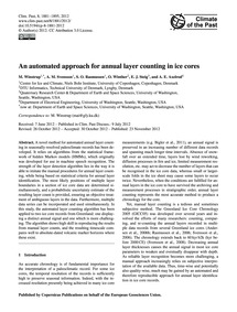 An Automated Approach for Annual Layer C... by Winstrup, M.
