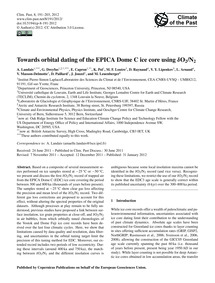 Towards Orbital Dating of the Epica Dome... by Landais, A.