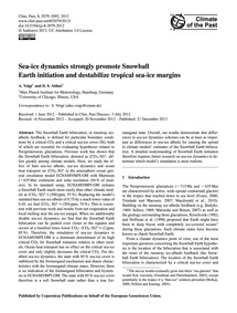 Sea-ice Dynamics Strongly Promote Snowba... by Voigt, A.