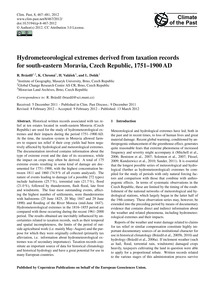 Hydrometeorological Extremes Derived fro... by Brázdil, R.