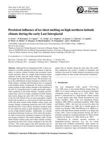 Persistent Influence of Ice Sheet Meltin... by Govin, A.