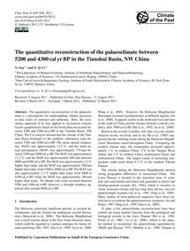The Quantitative Reconstruction of the P... by Sun, N.