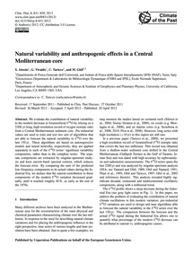 Natural Variability and Anthropogenic Ef... by Alessio, S.