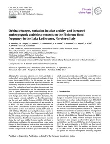 Orbital Changes, Variation in Solar Acti... by Vannière, B.