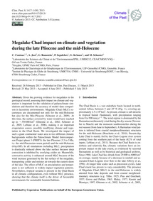 Megalake Chad Impact on Climate and Vege... by Contoux, C.