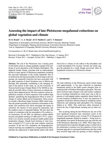 Assessing the Impact of Late Pleistocene... by Brault, M.-o.