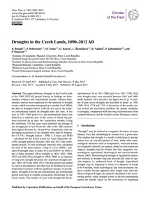 Droughts in the Czech Lands, 1090–2012 A... by Brázdil, R.