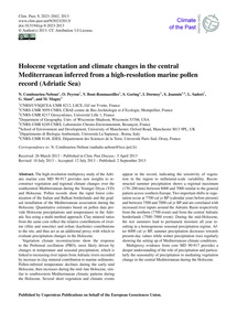 Holocene Vegetation and Climate Changes ... by Combourieu-nebout, N.