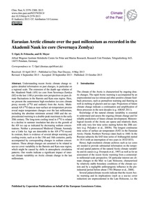 Eurasian Arctic Climate Over the Past Mi... by Opel, T.