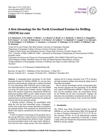 A First Chronology for the North Greenla... by Rasmussen, S. O.