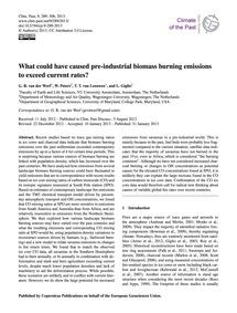 What Could Have Caused Pre-industrial Bi... by Van Der Werf, G. R.