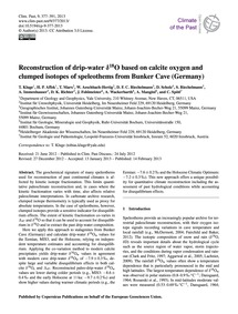 Reconstruction of Drip-water Δ18O Based ... by Kluge, T.