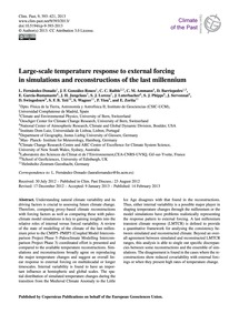 Large-scale Temperature Response to Exte... by Fernández-donado, L.