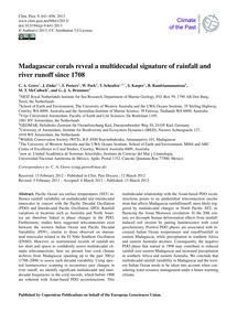 Madagascar Corals Reveal a Multidecadal ... by Grove, C. A.