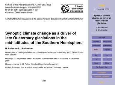 Synoptic Climate Change as a Driver of L... by Rother, H.