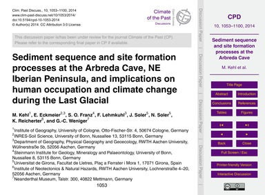 Sediment Sequence and Site Formation Pro... by Kehl, M.