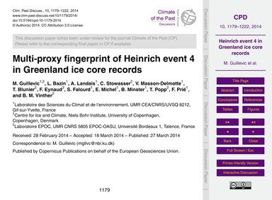 Multi-proxy Fingerprint of Heinrich Even... by Guillevic, M.