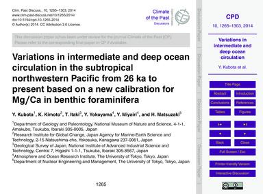 Variations in Intermediate and Deep Ocea... by Kubota, Y.