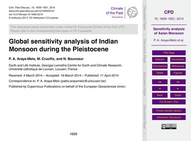 Global Sensitivity Analysis of Indian Mo... by Araya-melo, P. A.
