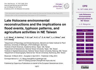 Late Holocene Environmental Reconstructi... by Wang, L.-c.