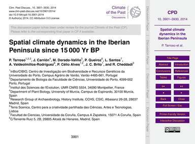Spatial Climate Dynamics in the Iberian ... by Tarroso, P.