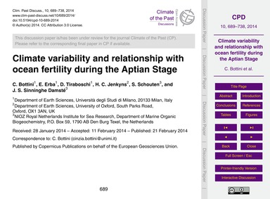 Climate Variability and Relationship wit... by Bottini, C.