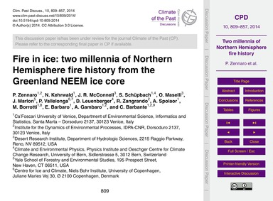 Fire in Ice: Two Millennia of Northern H... by Zennaro, P.