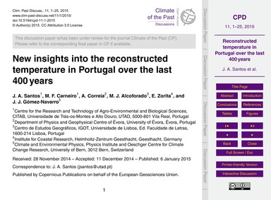 New Insights Into the Reconstructed Temp... by Santos, J. A.