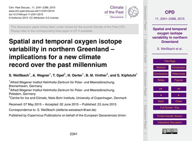 Spatial and Temporal Oxygen Isotope Vari... by Weißbach, S.
