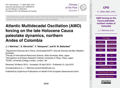 Atlantic Multidecadal Oscillation (Amo) ... by Martínez, J. I.