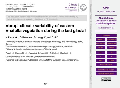 Abrupt Climate Variability of Eastern An... by Pickarski, N.
