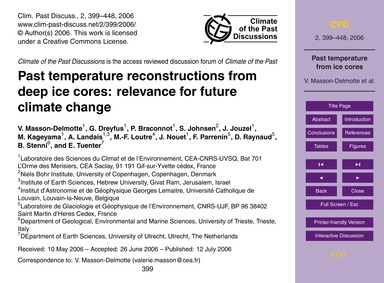 Past Temperature Reconstructions from De... by Masson-delmotte, V.