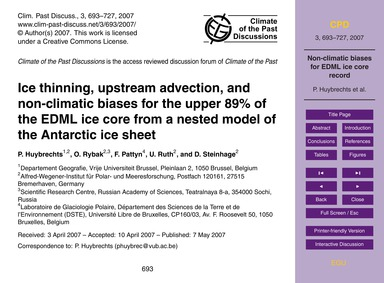Ice Thinning, Upstream Advection, and No... by Huybrechts, P.