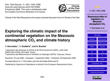 Exploring the Climatic Impact of the Con... by Donnadieu, Y.