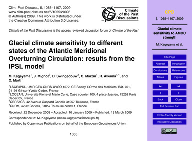 Glacial Climate Sensitivity to Different... by Kageyama, M.