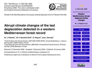 Abrupt Climate Changes of the Last Degla... by Fletcher, W. J.