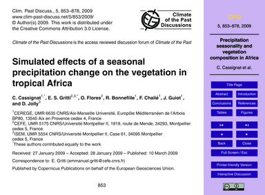 Simulated Effects of a Seasonal Precipit... by Cassignat, C.