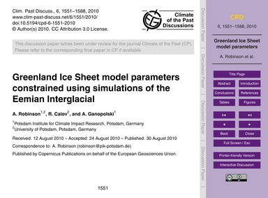 Greenland Ice Sheet Model Parameters Con... by Robinson, A.