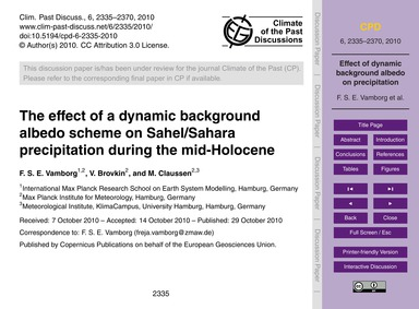 The Effect of a Dynamic Background Albed... by Vamborg, F. S. E.